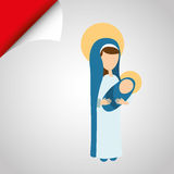 Blessed virgin design Stock Photography