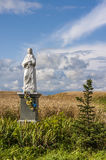 The Blessed Virgin Figurine in the Field,  Poland Stock Photos
