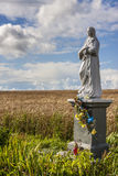The Blessed Virgin Figurine in the Field,  Poland Royalty Free Stock Photos