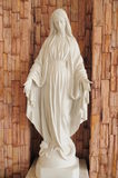 Blessed virgin mary. In front of brick wall Royalty Free Stock Image