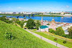 Blessed Virgin Mary Church. Cathedral Church of the Holy Blessed Virgin Mary in Nizhny Novgorod. Nizhny Novgorod is the fifth largest city in Russia royalty free stock images