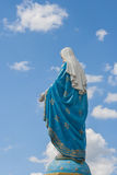 The Blessed Virgin Mary in front of the Roman Catholic Diocese that is public place. Stock Photo