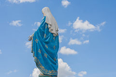 The Blessed Virgin Mary in front of the Roman Catholic Diocese, public place in Chanthaburi. Royalty Free Stock Photography
