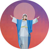 Blessed Virgin Mary into Heaven stock photography