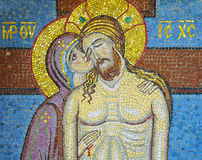 Blessed Virgin Mary and Jesus Christ. Icon of the Blessed Virgin Mary and Jesus Christ Royalty Free Stock Images