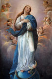 Blessed Virgin Mary. Painting on church altar stock photo