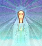 Blessed Virgin Mary portrait Royalty Free Stock Image