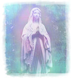 Blessed Virgin Mary portrait. Raster illustration stock illustration