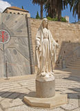 Blessed Virgin Mary's statue. Nazareth, Israel Royalty Free Stock Photos