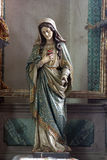 Blessed Virgin Mary. Statue on church altar stock images