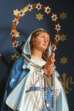 Blessed Virgin Mary. Statue on church altar royalty free stock image