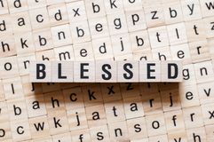 Blessed word concept royalty free stock image