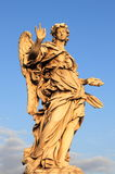 Blessing angel. Statue in Saint Angel bridge. Rome, Italy Royalty Free Stock Images