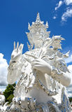 Blessing Angel in Wat Rong Khun, the famous White Temple of Thai Royalty Free Stock Photo