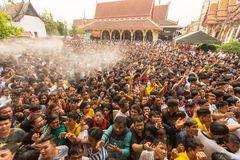 Blessing with Holy water of participants Wai Kroo Royalty Free Stock Photo