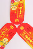 Blessing red envelopes of China Stock Image