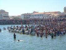 Blessing of the Sea, Saintes Maries de la Mer, France Royalty Free Stock Image