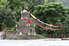 Blessing Stone. Chinese Qiang ethnic stone tower Royalty Free Stock Image