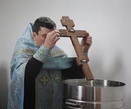 Blessing of water Stock Photography