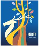 Blessings for christmas. This is a Greeting card design for merry christmas. It is a semi abstract graphic work on corel draw Stock Photography