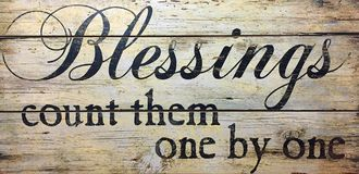 Blessings count them one by one Stock Image