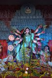 Blessings and prayers of Goddess Durga stock images