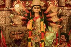 Blessings and prayers of Goddess Durga stock photo