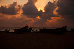 Blessings from the sky. Shot taken from Chavakkad Beach Kerala trichur Royalty Free Stock Photo