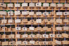 Blessings wood card in Asakusa Temple. Stock Images