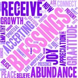 Blessings Word Cloud. On a white background Royalty Free Stock Photography