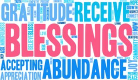 Blessings Word Cloud. On a white background Stock Photos