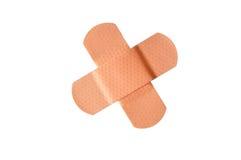 Blessure adhésive de revêtement de bandage, d'isolement Images stock
