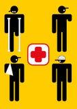Blessures d'ouvrier en service Image libre de droits