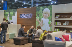 Blest Ukrainian furniture company booth Stock Photography