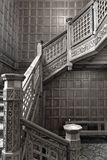 Bletchley Park, Vintage Wooden Staircase Stock Image