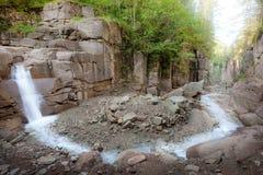 bletterbach峡谷南蒂罗尔瀑布 图库摄影