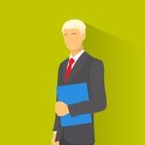 Bleu élégant de prise de costume de mode d'usage d'homme d'affaires illustration libre de droits