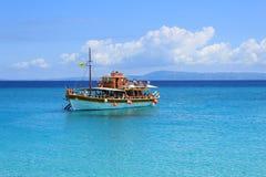 Bleu étonnant de mer Grèce d'Egge image stock