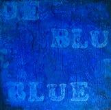 Bleu abstrait Photo libre de droits