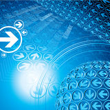 Bleu abstrait Image libre de droits