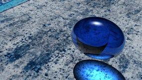Bleu abstrait Photographie stock