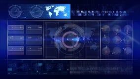 Bleu abstrait de BOUCLE de fond de technologie banque de vidéos