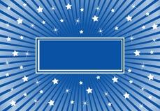 Bleu abstrait de fond avec les étoiles blanches Image libre de droits