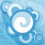 Bleu abstrait de fond de technologie Images libres de droits
