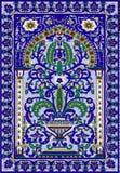 Bleu arabe de fleur de fresca de tuile Photos libres de droits