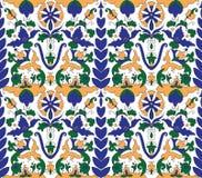 Bleu arabe de fleur de tuile de mosaica Photographie stock
