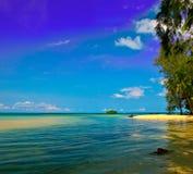 bleu au-dessus de ciel de mer Photo libre de droits