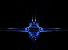 Bleu au néon Image libre de droits