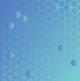 Bleu au sol hexa Photo stock