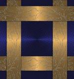 Bleu avec le cru d'or Images libres de droits